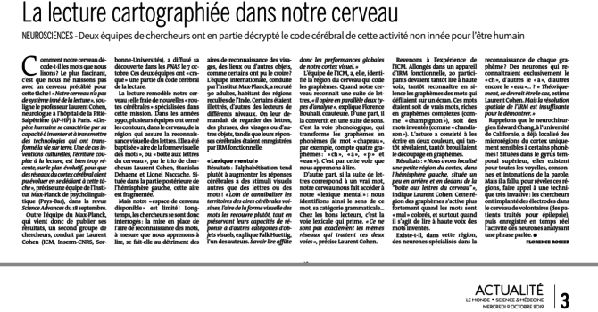 Our Research Featured In French Newspaper Le Monde